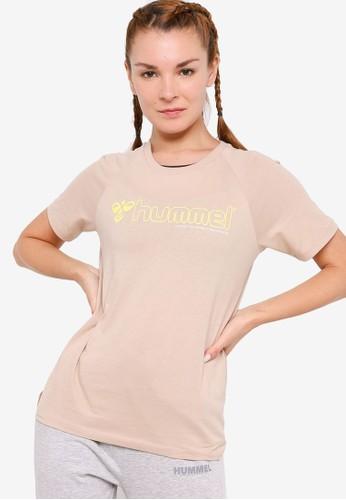 Hummel beige Zenia Short Sleeves T-Shirt E3A53AA9DCA3A9GS_1