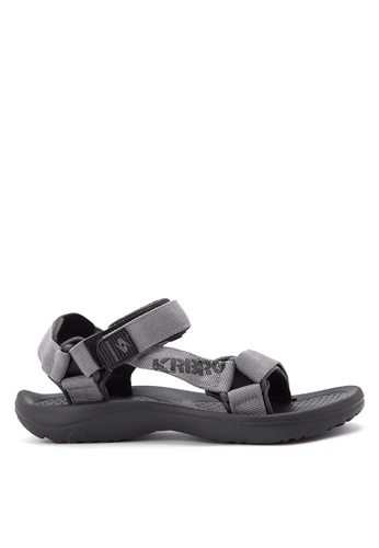 Krooberg black and grey Roam Sandals KR692SH68VGTPH_1