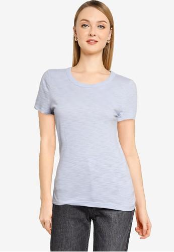GAP blue Forever Soft Crew Neck T-Shirt 48BC1AA26D0B60GS_1
