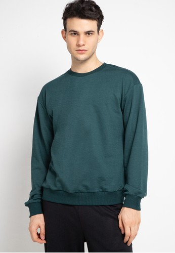 Tolliver green Basic Sweatshirt 86F7FAA4278AD3GS_1
