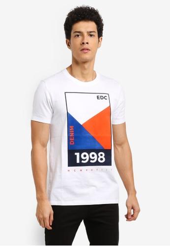 ESPRIT white Short Sleeve T-Shirt 3FACFAA755E00CGS_1