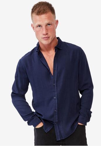 Cotton On blue Cayman Long Sleeve Shirt 39B8FAA8A54034GS_1