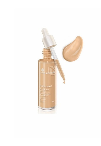 Yves Rocher beige Pure Light Moisturizing Nude Foundation Beige 100 30ml (TF) 4037DBE7BFF3A4GS_1