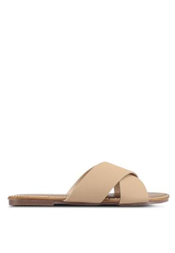 Mimosa 褐色 交叉繞帶涼鞋 0B219SHE779587GS_1