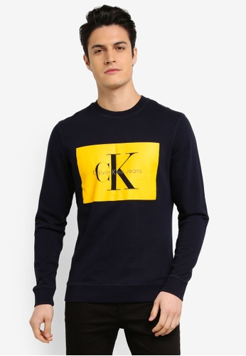 Calvin Klein navy Regular Crew Neck Knit Sweatshirt - Calvin Klein Jeans 74925AA657ED65GS_1