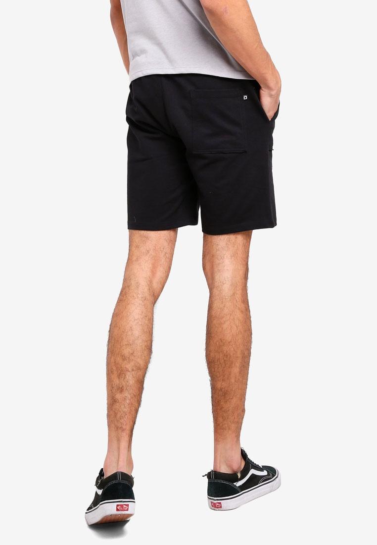 Knit Mid Rise Black Shorts With Penshoppe Drawstring B5Owp