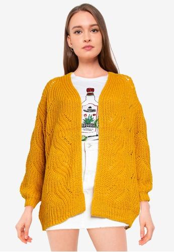 ONLY yellow Havana Long Sleeve Long Cardigan 22043AAF4730AEGS_1