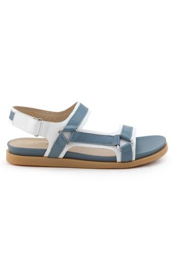 Shu Talk 藍色 舒適輕巧雙帶運動款涼鞋 SH544SH09RJATW_1