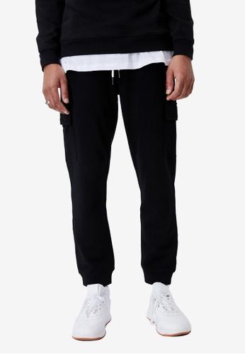 Cotton On black Trippy Slim Trackie - Cargo 53B84AA3487BBCGS_1