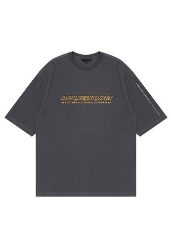 MUSIUM DIV grey Logo tee 39663AA4183027GS_1