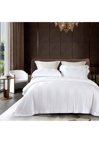 Epitex white Cressent Dale Premium 1200TC Bamboo BD5804-1 Fitted Sheet Set (w.o quilt cover) D3B72HLF87DB0DGS_1