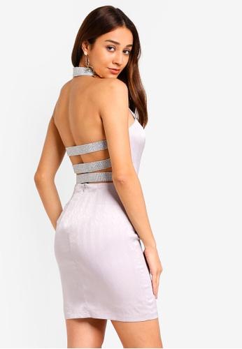 INDIKAH silver Horizontal Back Strap Bodycon Dress 7D588AA06C99CFGS_1