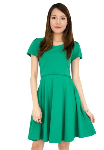MOONRIVER green Carrie Classic Fit and Flare Office Dress MO886AA74PWJSG_1