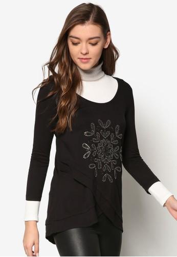 Maria 刺繡圖案長袖上衣,esprit outlet 家樂福 服飾, 服飾