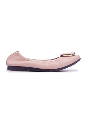 Flatss & Heelss by Rad Russel beige Square-toe Flats with Buckle - Beige 67000SHF30498CGS_1