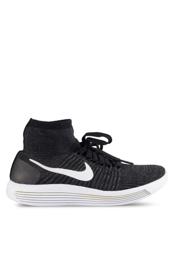 Nike black Women's Nike Flyknit Lunar Epic Running Shoes NI126SH51MSMMY_1