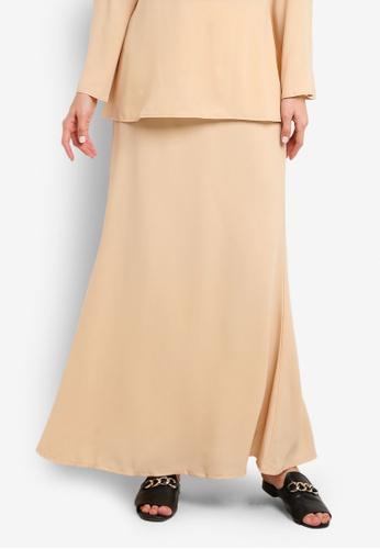 BYN beige Duyong Skirt BY059AA43VKEMY_1