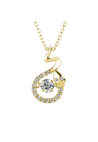 Her Jewellery gold 12 Dancing Zodiac Pendant (Snake) YG- Made with premium grade crystals from Austria B0EFCAC9F6749BGS_1