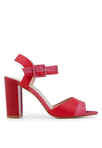 Minelli pink F93 045 Glittered Leather Sandals - Mahe MI352SH31MGMSG_1
