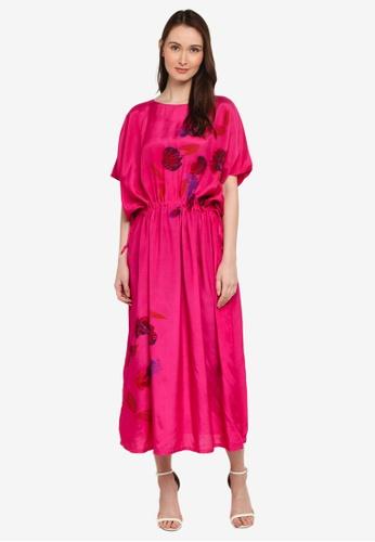 NOOR ARFA pink Kaftan Flower Whisper BD54BAAA9B6FE8GS_1