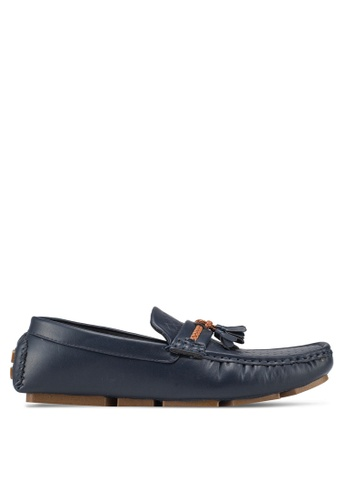 UniqTee blue Woven Loafers With Braided Tassels 58C99SHD41C2F7GS_1