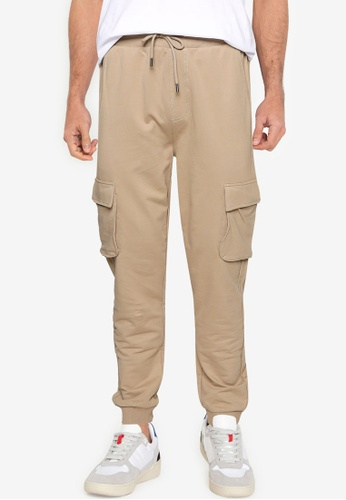 Only & Sons brown Kian Kendrick Jogger Pants F1747AAB211196GS_1