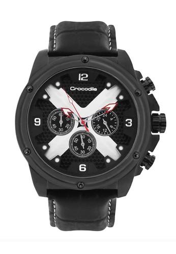 Crocodile Timepiece black Jam Tangan Pria Analog Sports Chrono Strap Kulit CM-021B24B Jam Tangan Pria 8809FACD86136AGS_1