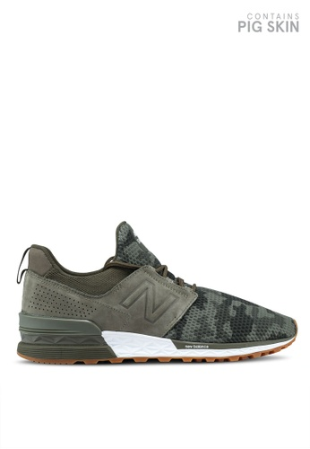 New Balance green 574 Sport Camo Edition Lifestyle Sneakers EF328SH8D7EC23GS_1