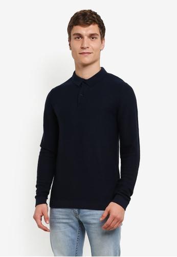 Selected Homme 藍色 Mattis POLO 衫 SE364AA0S42NMY_1