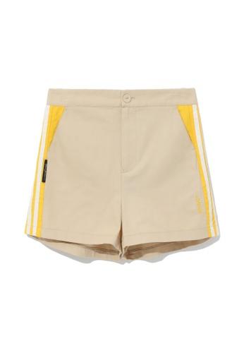 MUSIUM DIV beige Side stripe shorts 6783DAABCC9AE4GS_1