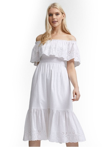 Dorothy Perkins white Embroidered Frill Dress 6D483AA660347FGS_1