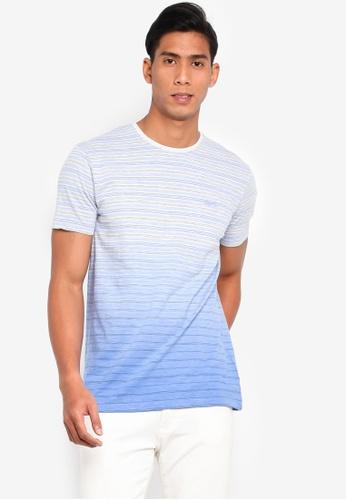 ESPRIT 藍色 Colour Gradation T恤 91285AAD3DFB02GS_1