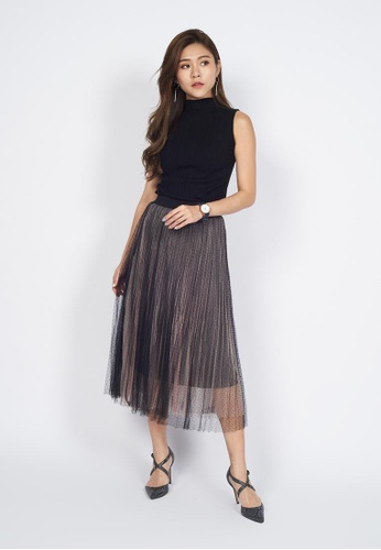 c24a7e303 Buy Sophialuv Pleated Chiffon Midi Skirt Online on ZALORA Singapore