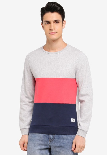 Jack Wills multi Lambrook Colour Block Sweatshirt 01D44AAC3D07D0GS_1