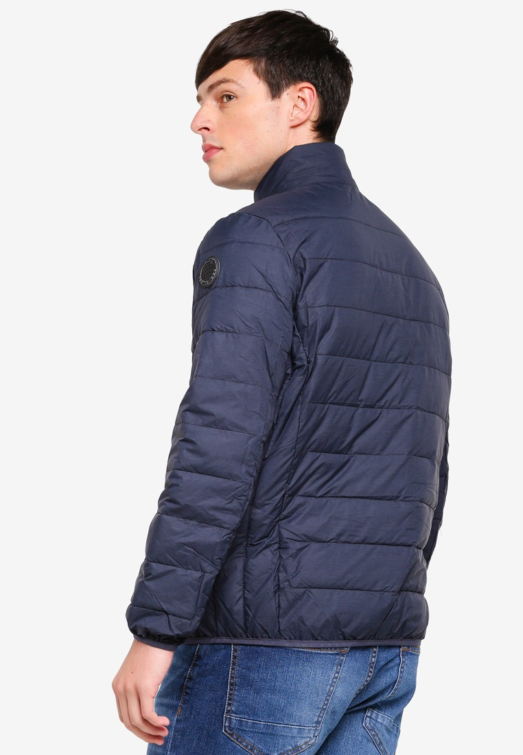 Blue Navy Neck Funnel Burton London Puffer Lightweight Navy Menswear Jacket wzSwxf1Pq