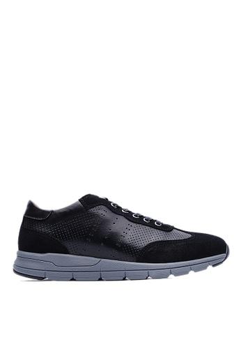 Life8 black Top Grain Nubuck Casual Shoes-09005-Black LI286SH00UTRMY_1