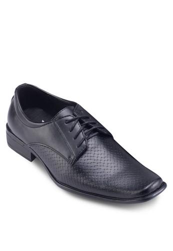 esprit專櫃蛇紋拼接商務皮鞋, 鞋, 鞋