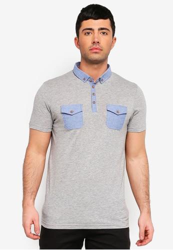 Brave Soul grey Revelation Polo Shirt 2783BAA4CBA5D2GS_1