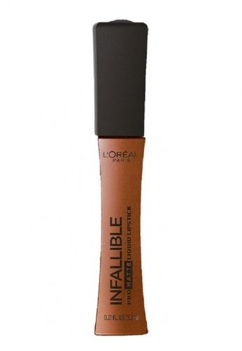 L'Oréal Paris beige L'Oreal Paris Infallible Pro-Matte Liquid Lipstick 358 Cowboy B05ADBEF99FC52GS_1