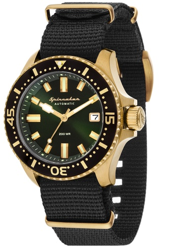 a98a6a8e641 Spinnaker green Spinnaker Men s Genuine leather Strap and Nylon Nato Strap  Watch - SP-5039