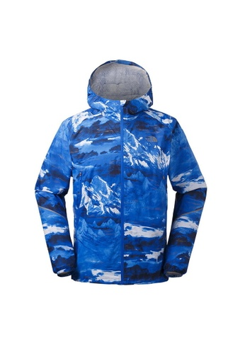 4792b36fc The North Face Men Stormy Trail Jacket Blue Waterproof Jacket