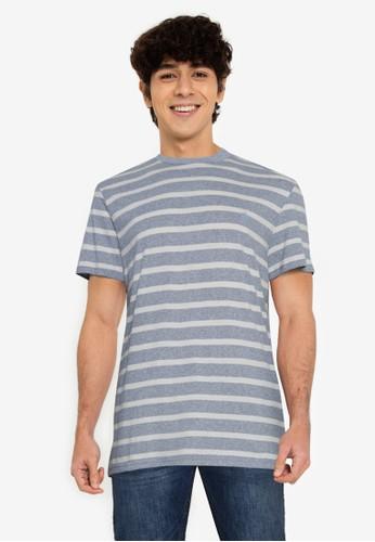 Springfield blue Essential Stripe T-Shirt 5DCF1AA81CBE8CGS_1