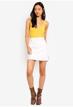 04ce82492e 10% OFF TOPSHOP White Denim Mini Skirt HK$ 360.00 NOW HK$ 323.90 Sizes 6 8  10 12