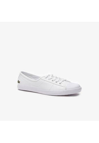 Lacoste white Women's Ziane Leather Slip-on - Ziane BL 1 CFA 7539ASH67D2689GS_1