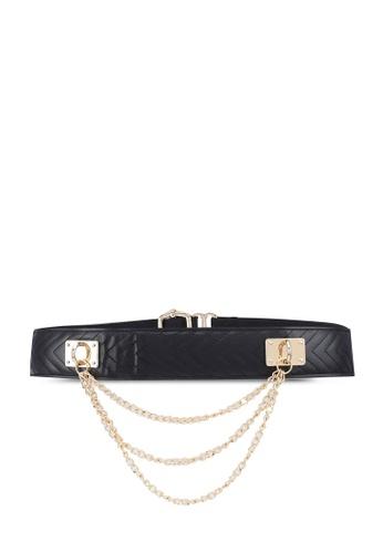 ALDO black Onea Stretch Belt 13F97ACAC0FF2EGS_1
