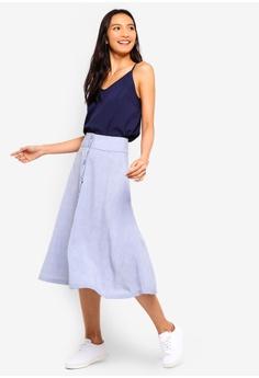 1b9d567cffa 35% OFF ZALORA Button Down Midi Skirt RM 95.00 NOW RM 61.90 Sizes XS S M L  XL