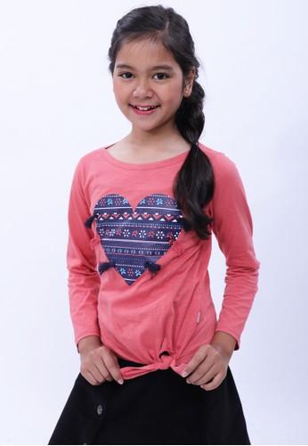 EXIT GIRL pink Mayye T-shirt 1D319KA7FABFBBGS_1