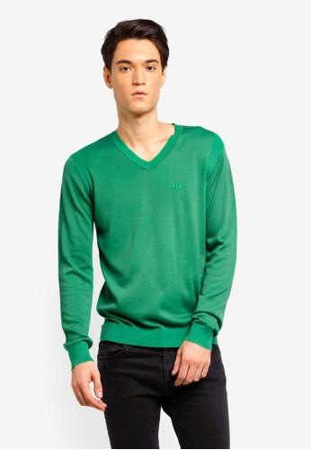 Armani Exchange green Tiny A|X Sweater 96870AA7005B76GS_1