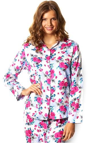 Poppy zalora 折扣碼印花睡衣套裝, 服飾, 睡衣套裝