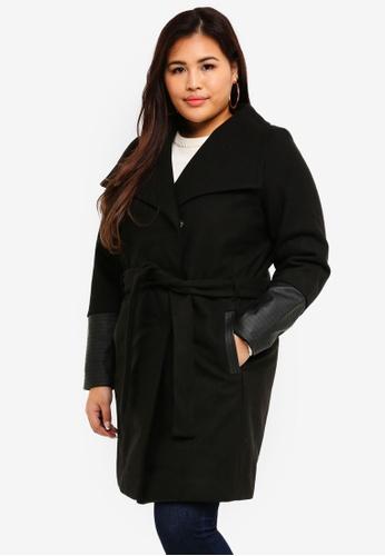 Junarose black Plus Size Long Jacket B9C81AA6314138GS_1